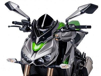 Bolha Naked Em Acrílico Fumê Escura Kawasaki Z1000 Puig
