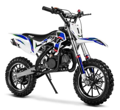Mini Moto Cross MXF Ferinha 49cc 2T Aro 10/10 partida elétrica