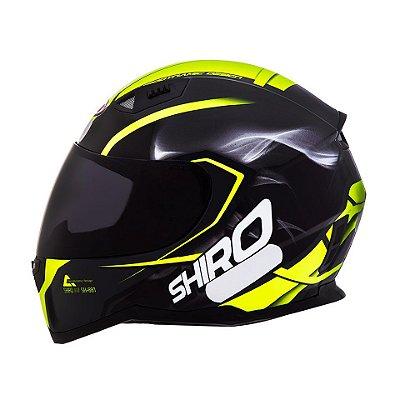 Capacete Shiro Sh881 Motegi - Preto e Amarelo