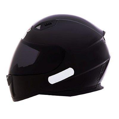 Capacete Shiro Sh881 Monocolour Black - Preto Brilhante