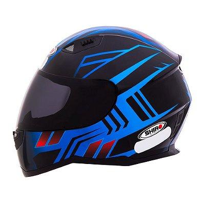 Capacete Shiro Sh881 Fly Racing - Preto e Azul