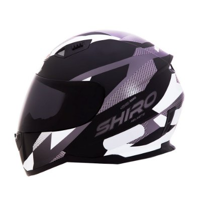 Capacete Shiro Sh881 BRNO Fosco - Preto e Branco