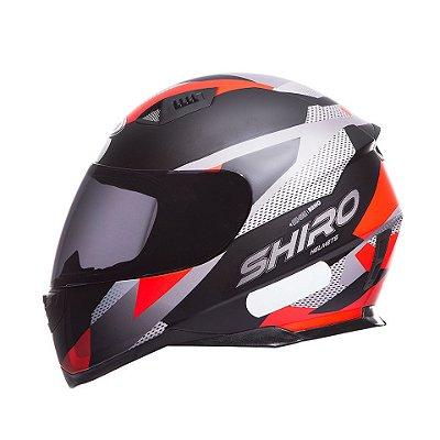 Capacete Shiro Sh881 BRNO Fosco - Preto e Vermelho