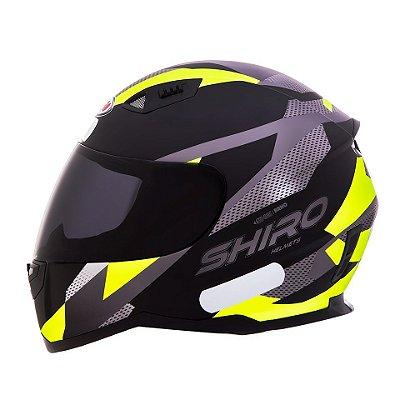 Capacete Shiro Sh881 BRNO Fosco - Preto e Amarelo