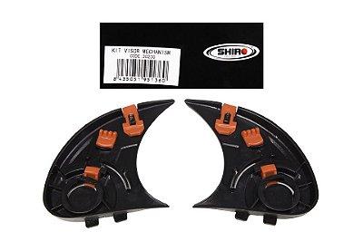 Kit Mecanismo Viseira Original Capacete Shiro Sh-881