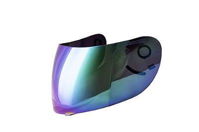 Viseira Capacete Nasa Shiro Sh-881 Rainbow Espelhada Camaleão