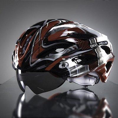 Capacete Bike Dux Helm Helmet Para Ciclista Bicicleta Tamanho G - Vermelho