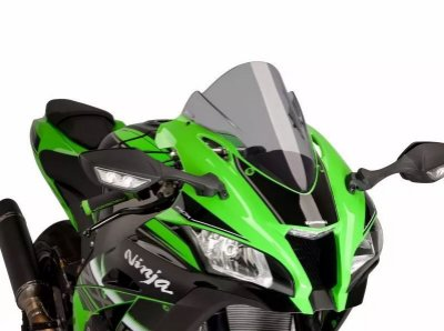 Bolha Racing Em Acrílico Fumê Clara Kawasaki ZX-10R Ninja 2016 em Diante Puig