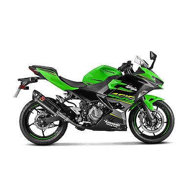 Ponteira Akrapovic carbono Kawasaki Ninja 400 2018