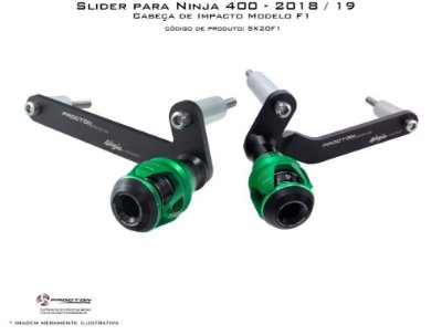 Slider com Cabeça F1 Kawasaki Ninja 400 Procton Racing
