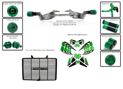 Kit Slider Procton Racing Kawasaki Ninja 300R