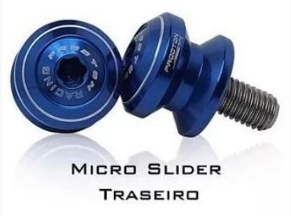 Micro Slider Traseiro Procton em Inox Triumph Street Triple 765