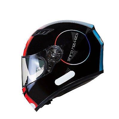 Capacete Shiro Sh600 Robotic c/ Viseira Solar - Preto