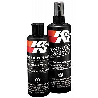 Kit Limpeza Lubrificação Filtro de Ar K&N