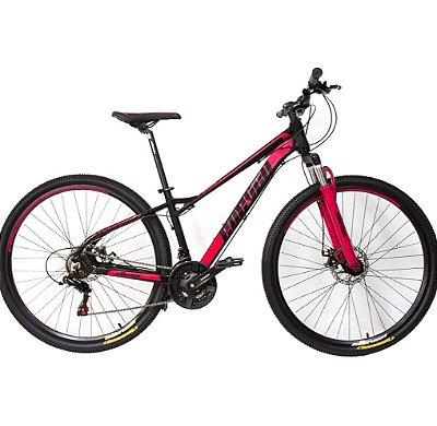 Bicicleta Elleven Belle Preto/Vermelho LANÇAMENTO