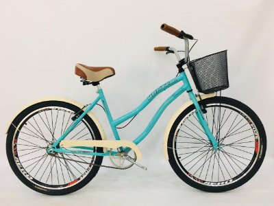 Bicicleta Retrô Route Beach cor única