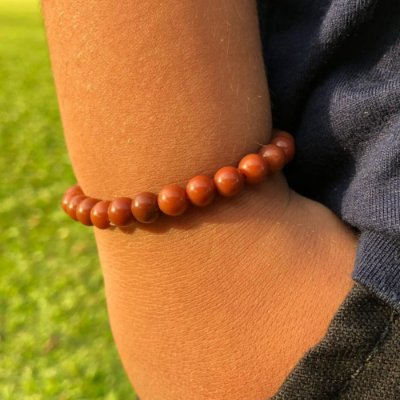 Pulseira Infantil Ônix Masculina Brown - 4MEN
