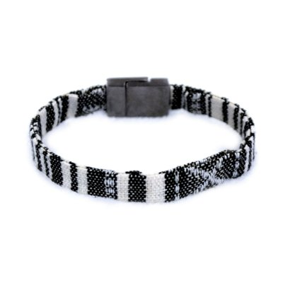 Pulseira Tecido Black and White - 4MEN