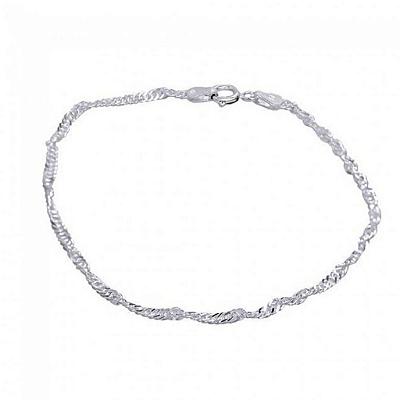 Pulseira Prata 925 Singapura (19 cm) - MOLARA