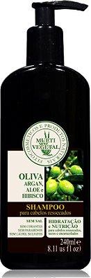 Multi Vegetal  - Shampoo de Oliva com Argan (Hidratação Capilar) 240ml