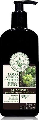 Multi Vegetal  - Shampoo de Côco (Recuperação Capilar) 240ml.