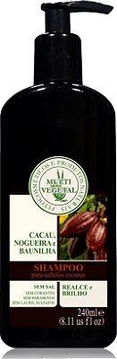 Multi Vegetal  - Shampoo de Cacau, Nogueira e Baunilha (Cabelos Escuros)  240ml.