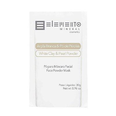 Elemento Mineral - Argila Branca e Pó de Pérolas 30g