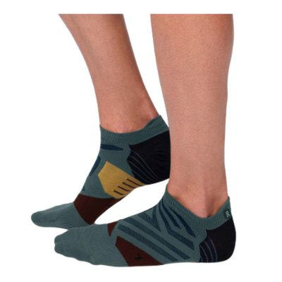 MEIA DE CANO CURTO ON RUNNING LOW SOCK MASCULINA VERDE