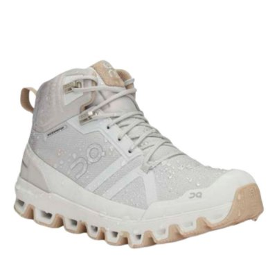 BOTA ON RUNNING CLOUDROCK WATERPROOF FEMININA BRANCA