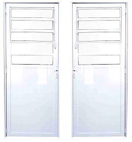 Porta Basculante Lambril - Branco