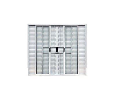 Veneziana 6 fls com Grade / Alumínio Branco / Linha Normatizada