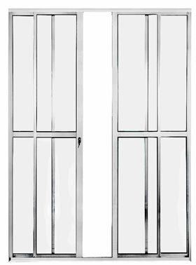 Porta Balcão 4 folhas - Com fechadura - Brilhante