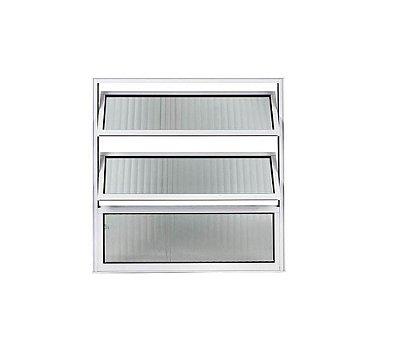 Vitrô Basculante 0,60 x 0,60 / Alumínio Brilhante
