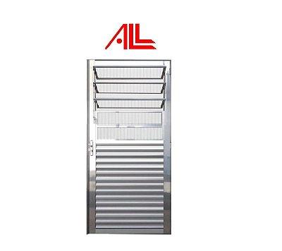 Porta Basculante 2,10 x 0,80 / Alumínio Brilhante