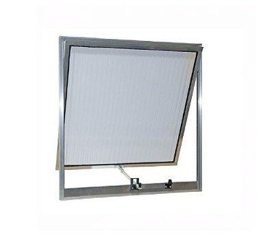 Vitrô Maxim-Ar 0,60 x 0,60 / Alumínio Brilhante