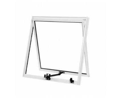 Vitrô Maxim-Ar 0,60 x 0,60 / Alumínio Branco