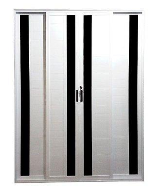 Porta Balcão Lambril com Vidro 4 folhas - Com fechadura