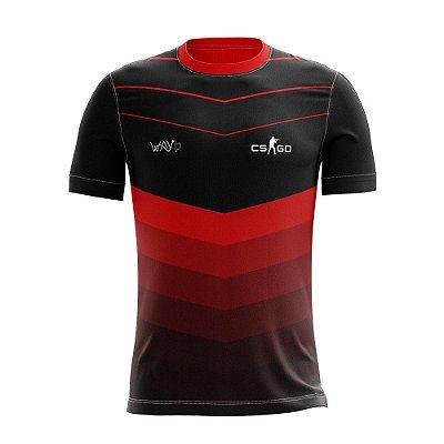 "Camiseta Esportiva ""Jersey"" Proplayer Csgo Vermelha"