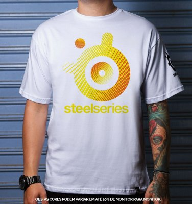 Camiseta Casual Steelseries Rise Up