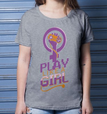 Camiseta Casual Girl Player