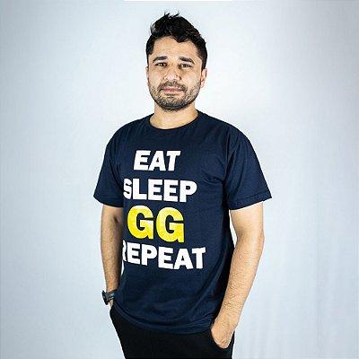 Camiseta Casual Eat, Sleep & Gg Zigueira