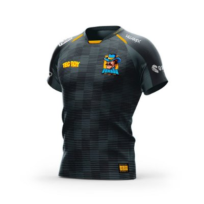 Camiseta Esportiva Jersey Rensga Preta
