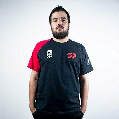 Camiseta Casual Redragon Cyberpunk Reds