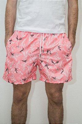 Shorts de Verão Beija-Flor