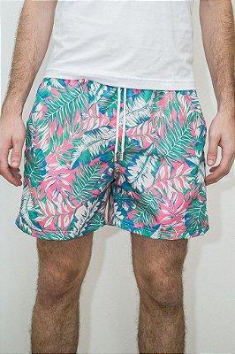 Shorts de Verão Folhagem