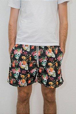 Shorts de Verão Caveira