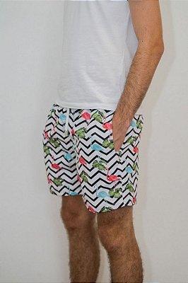 Shorts de Verão Flamingo Copacabana