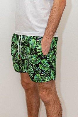 Shorts de Verão Tropical Dark