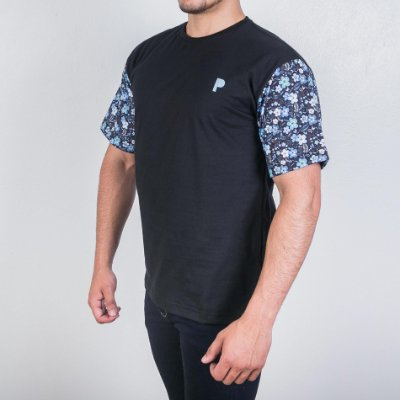 Camiseta Player Blue Flower