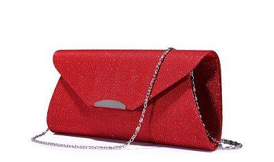 Bolsa Clutch Vermelho Escuro